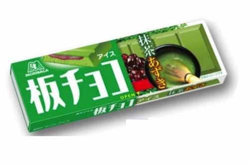 森永の板チョコアイス(抹茶あずき味)がすごくおいしい
