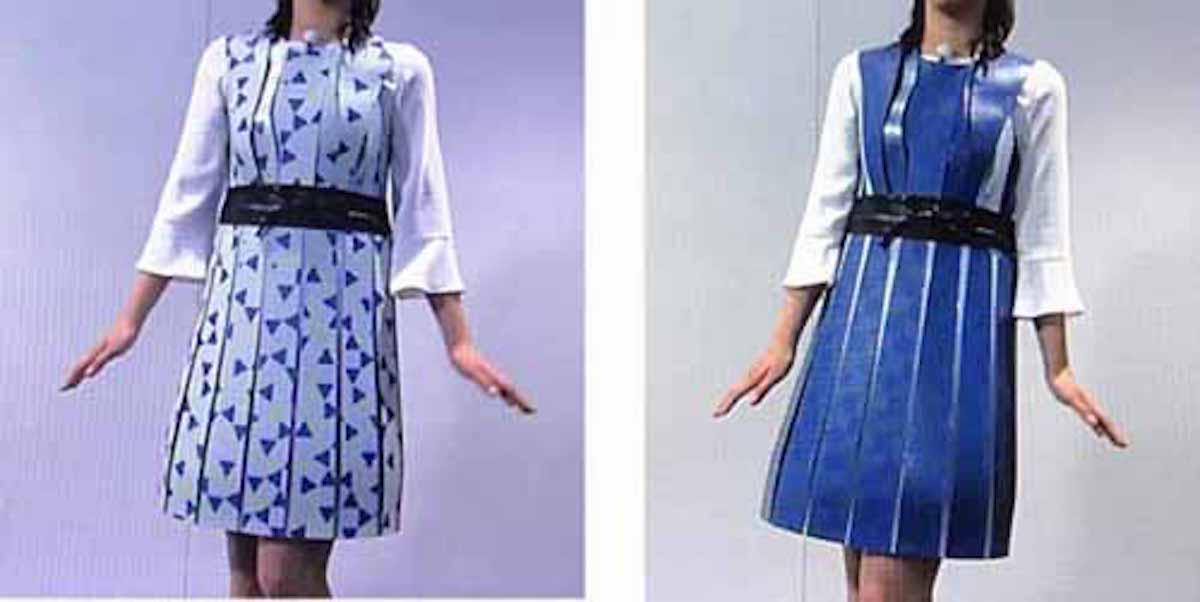 電子ペーパーで色や柄が変わる服:WBSトレたま【2017/05/11】