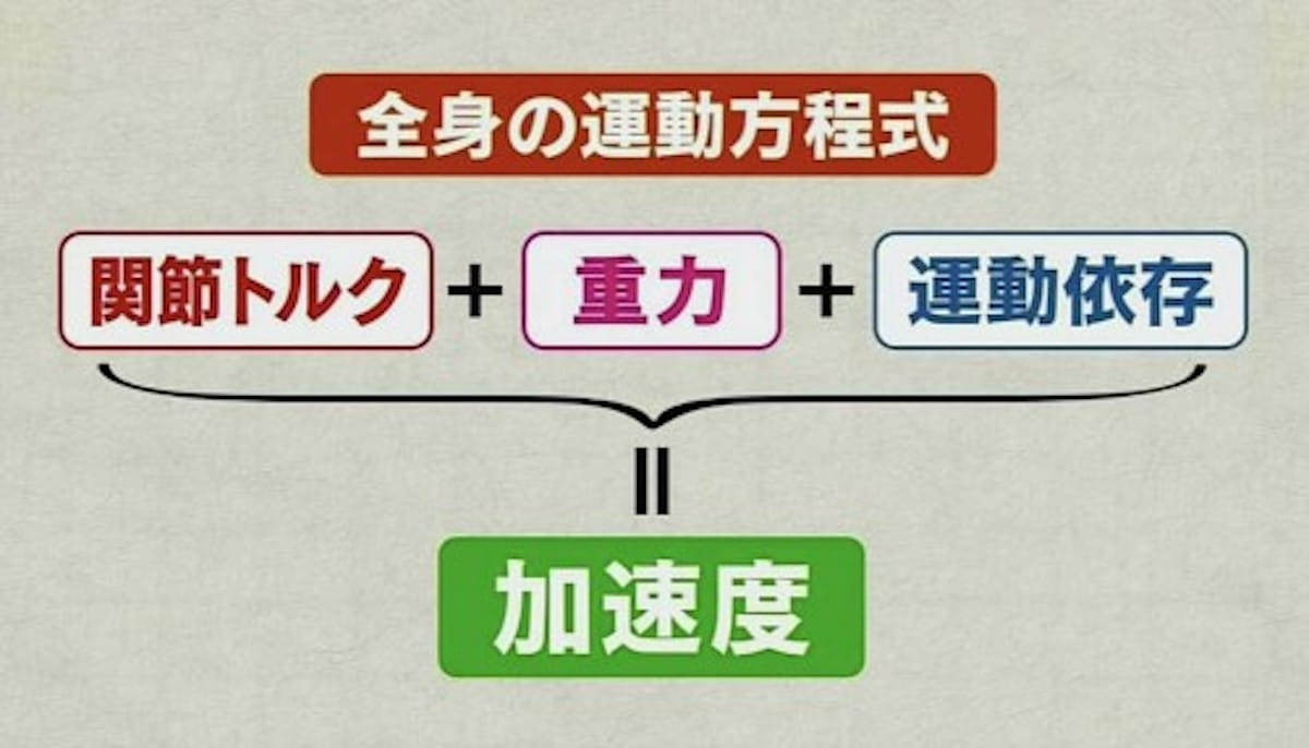 全身の運動方程式の話:ろんぶ〜ん【2020/01/06】