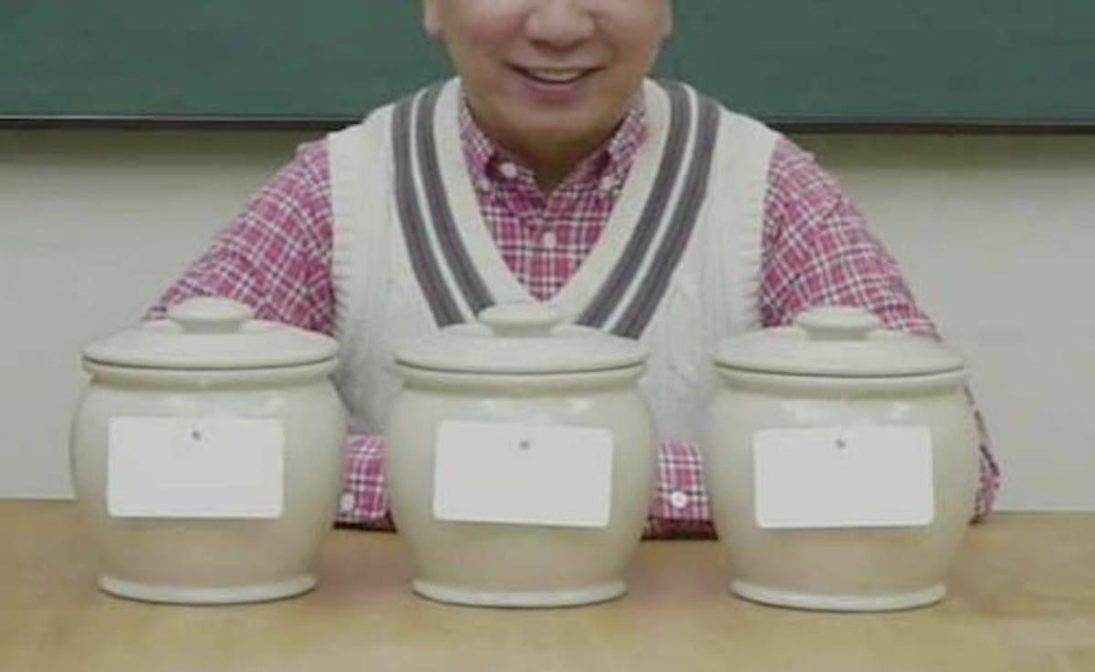 3つの壺の中に入った紅白まんじゅう:2355【2020/01/10】