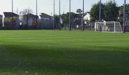 サッカーグラウンドの芝生の手入れ:シャキーン【2020/02/19】