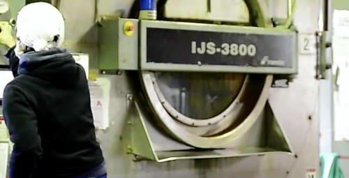 工場で洗濯