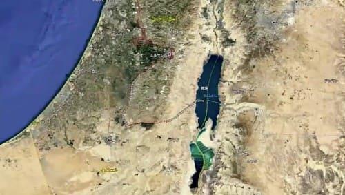 地図の死海