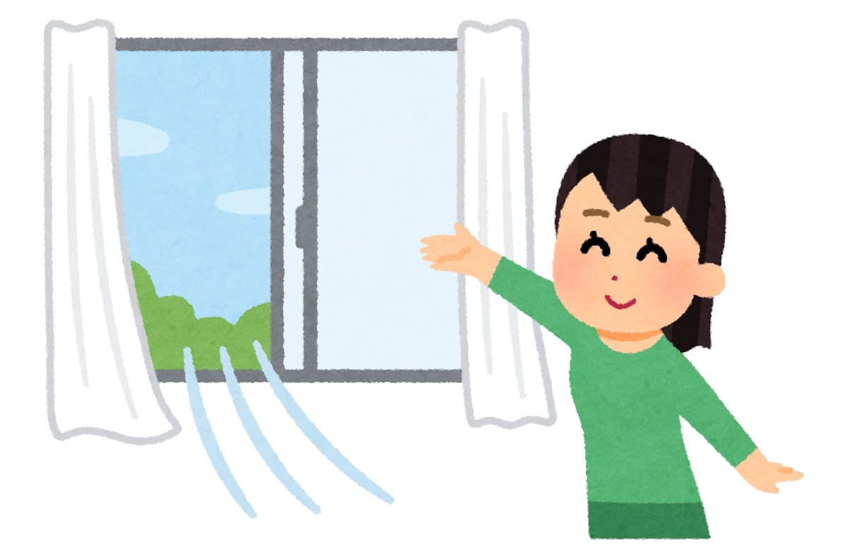 部屋の換気を早くする方法:ソレダメ!【2020/08/05】